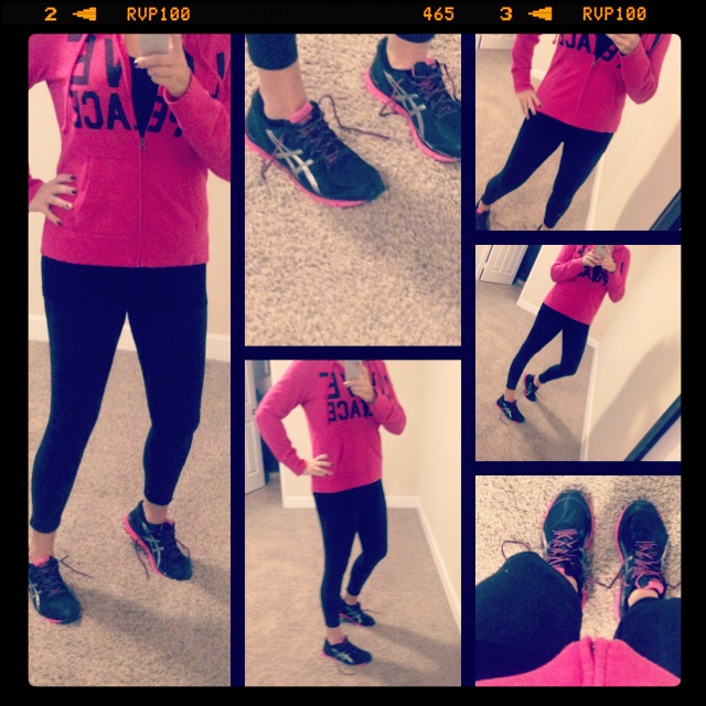 Bummin it a bit this week--Sweatshirt: Target; Pants: Champion; Shoes: Asics; Watch: Michele; Hair Tie: c/o Goody
