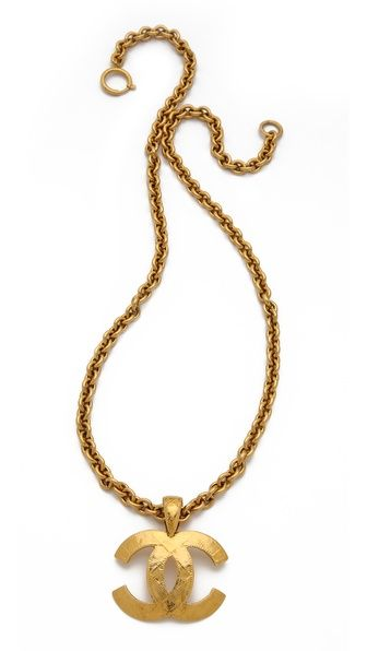 WGACA Vintage--Vintage Chanel Quilted CC Necklace $2,079