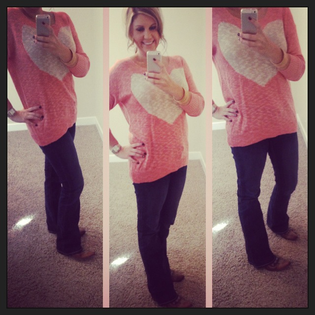 Sweater: G Stage; Jeans: Southern Tread for Boot Barn; Boots: Old Gringo