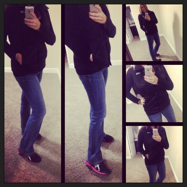 Vest: The North Face; Shirt: Splendid; Jeans: Miss Me Jeans; Shoes: Asics; Watch: Michele