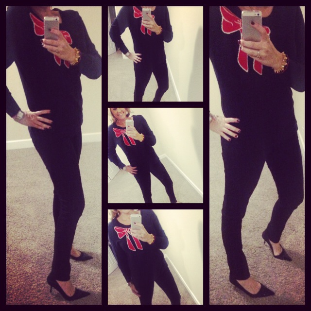 Sweater: Tommy Hilfiger; Jeans: Celebrity Pink; Pumps: Nine West; Watch: Michele; Ring: Euro Art Jewelers