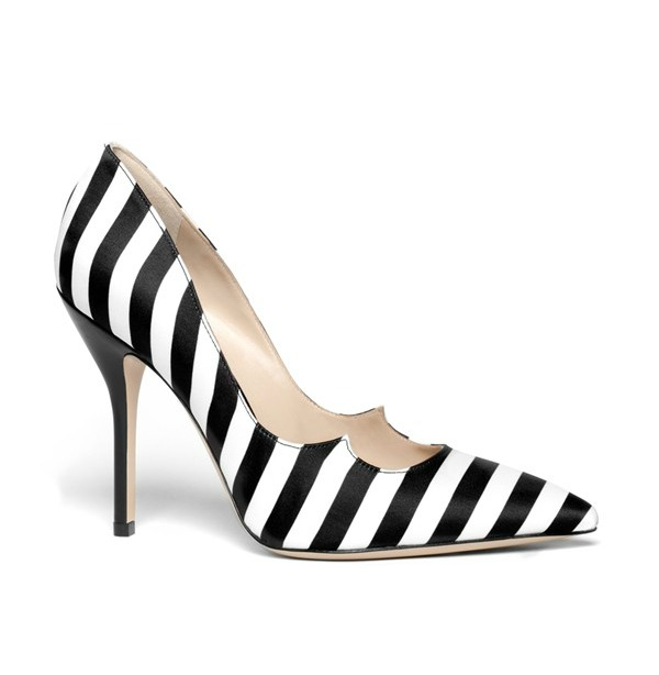 Paul Andrew Zenadia stripe silk pointy toe pump, not available until March 29 $645