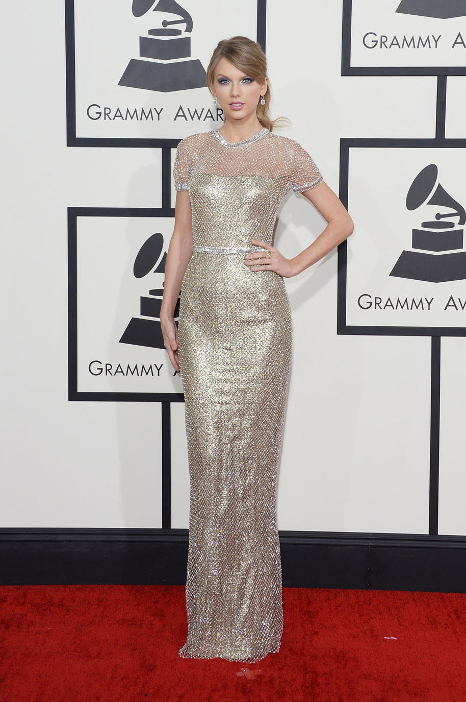 And of course, one more peek at Taylor Swift's glittering look.