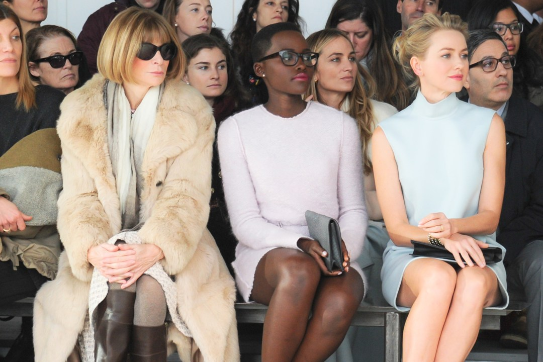 Calvin Klein Collection show - February 13 2014 Anna Wintour, Lupita Nyong'o and Naomi Watts.