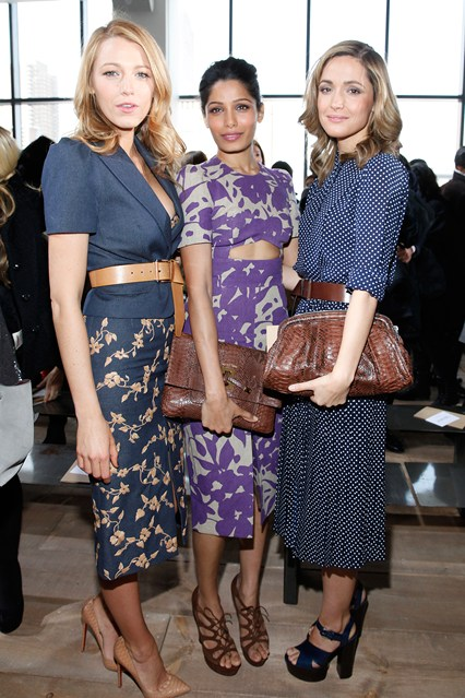 Michael Kors show - February 12 2014 Blake Lively, Freida Pinto and Rose Byrne.
