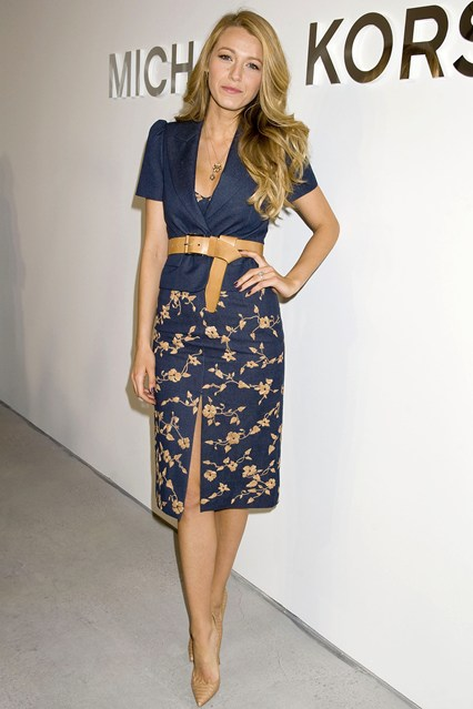 Michael Kors show - February 12 2014 Blake Lively.