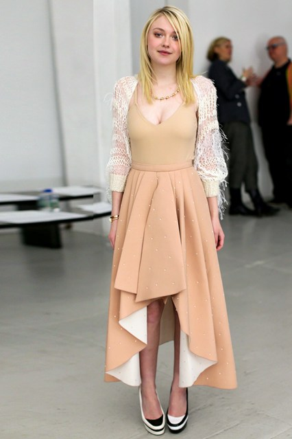 Rodarte show – February 11 2014 Dakota Fanning.