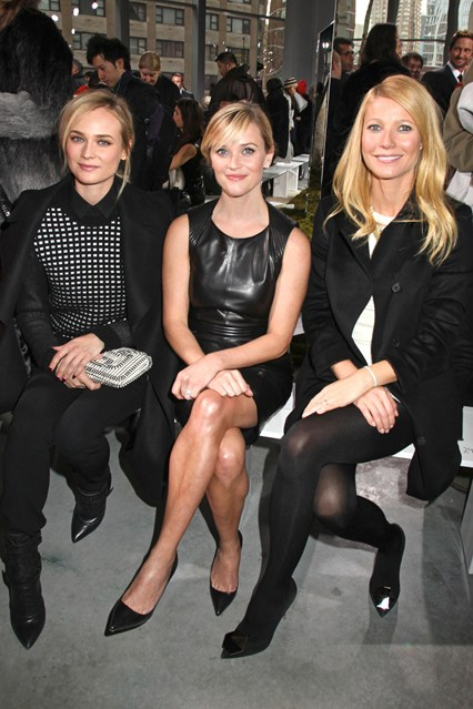 Hugo Boss show - February 12 2014 Diane Kruger, Reese Witherspoon and Gwyneth Paltrow.