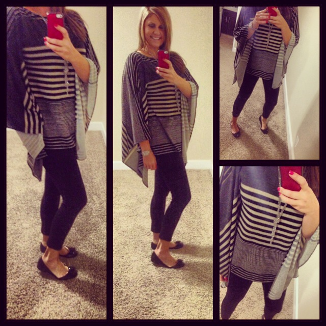 Sweater: Veronika M; Leggings: Mossimo for Target; Flats: Marc Fisher for Macy's;