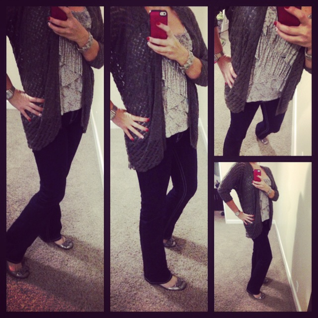Cardigan: Aniche Boutique; Tank: Lauren Conrad for Kohls; Jeans: