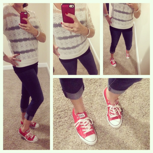 Blouse: Forever 21; Tank: Aniche Boutique; Jeans: Celebrity Pink; Shoes: Chuck Taylors by Converse;