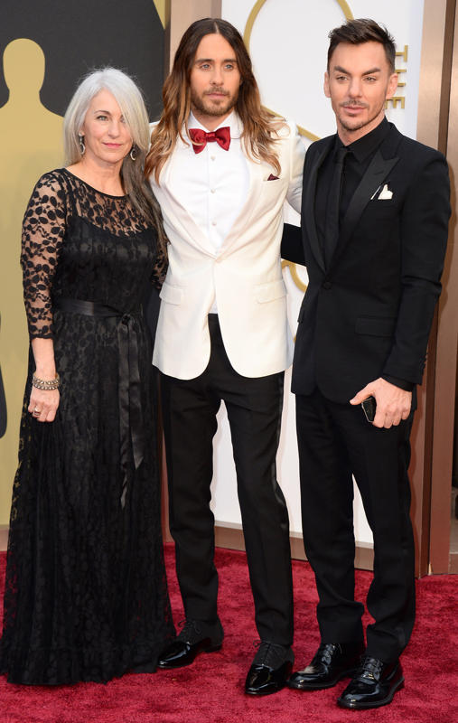 Jared Leto with his mother and brother