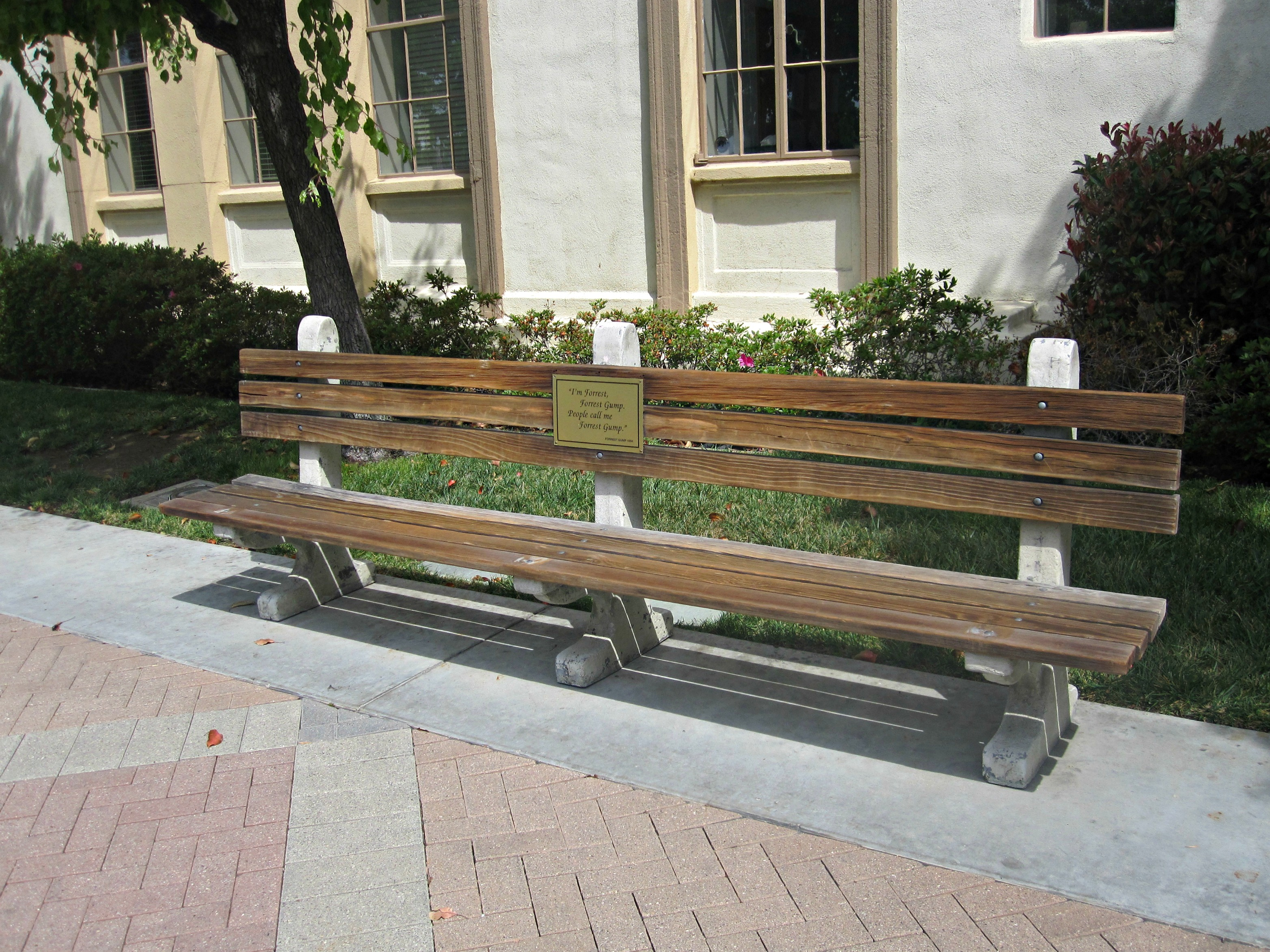 Bench used in Forest Gump.