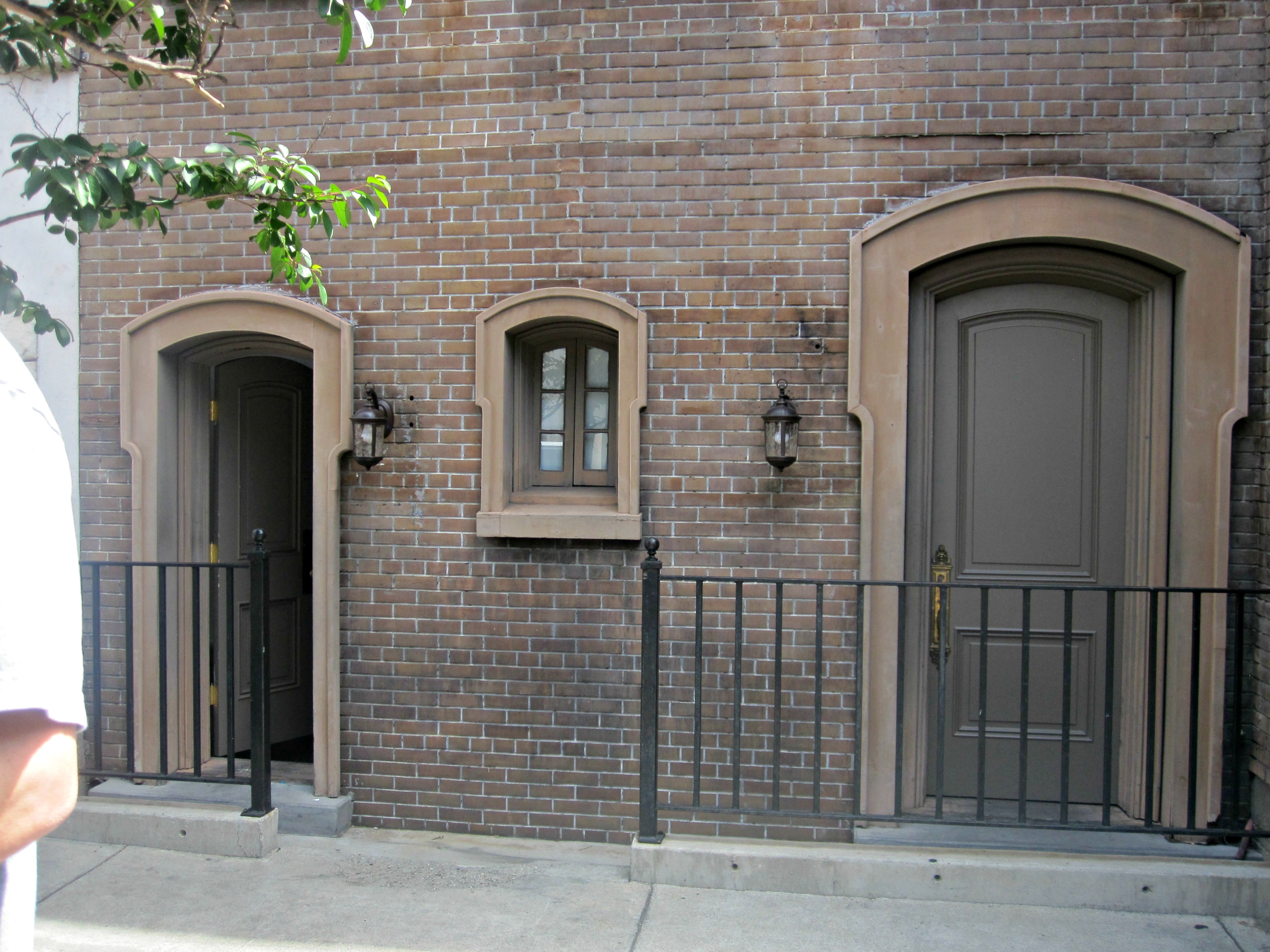 "I loved this in the New York Area of the studio.  These are the ""Tom and Nicole doors.""  If you notice the one on the left is much shorter, where someone like Tom Cruise, who is 5'8 would stand to make himself appear taller.  The right door is where someone like Nicole Kidman, who is 6' would stand to appear smaller."