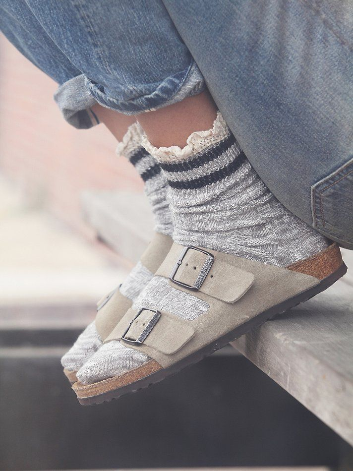 And, this is exactly how I used to wear mine back in the 90's...with a cute pair of socks and jeans.  (Photo courtesy of Free People)