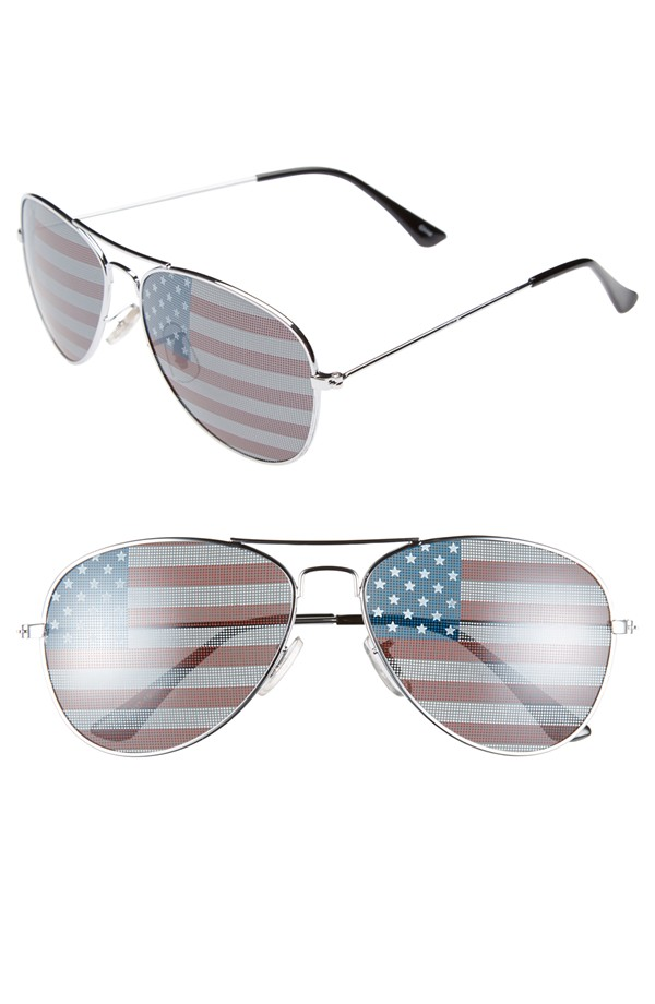 Don't forget the shades!  These adorable aviators are the perfect way to finish off your July 4th outfit! Click the photo for details.