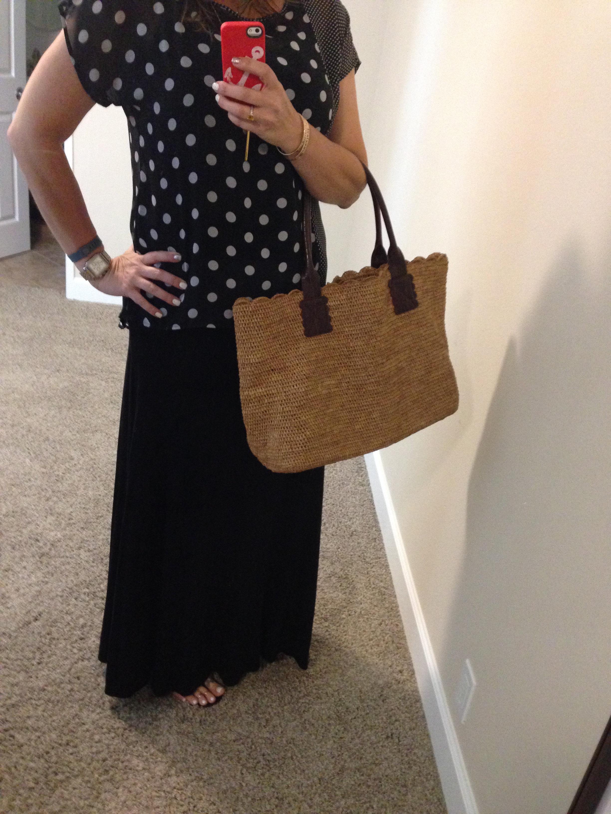 What I'm Wearing–Maxi and Polka Dots