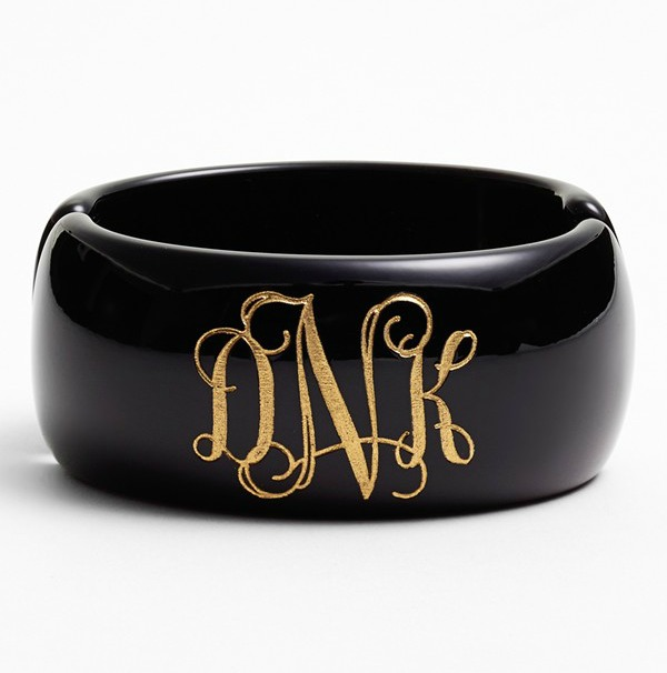 Moon and Lola 'Vine Font' Personalized Monogram Bracelet (online only) Regular price: $68  Sale Price: $44.90