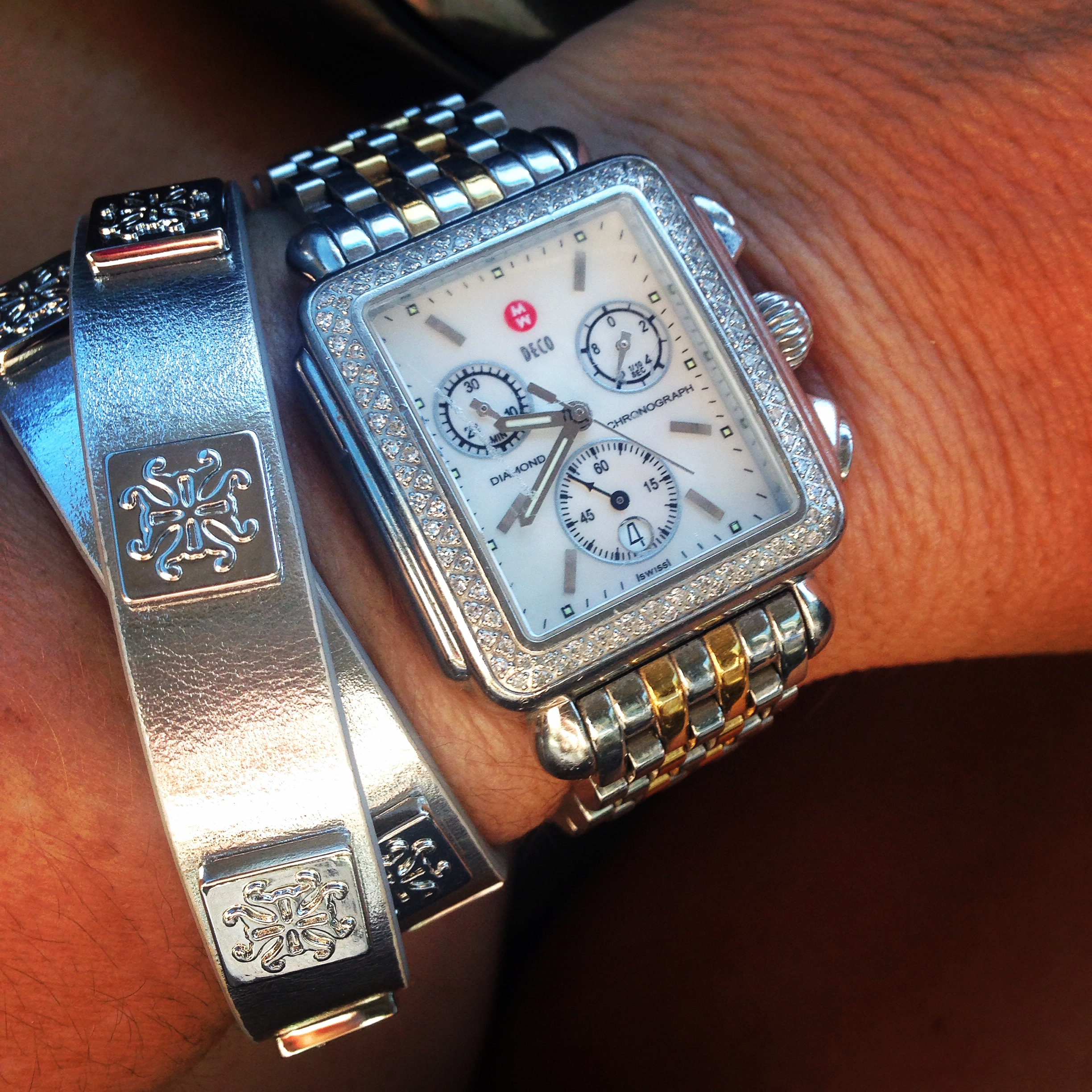 c/o Rustic Cuff (Watch is Michele)