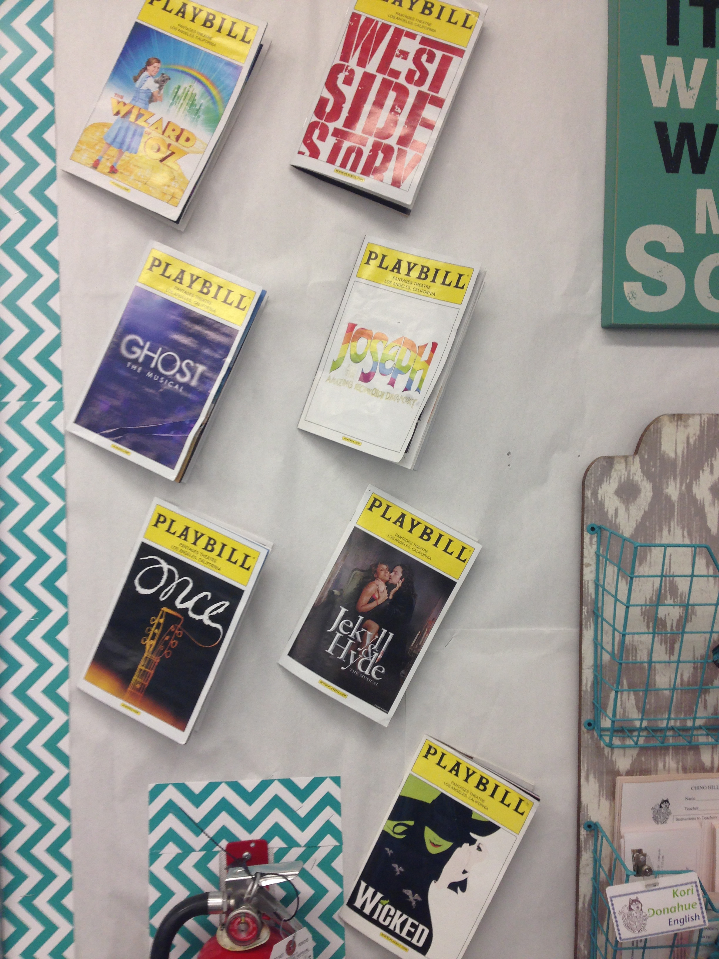 My playbills.  I had to display them and am glad they looked ok in my area.