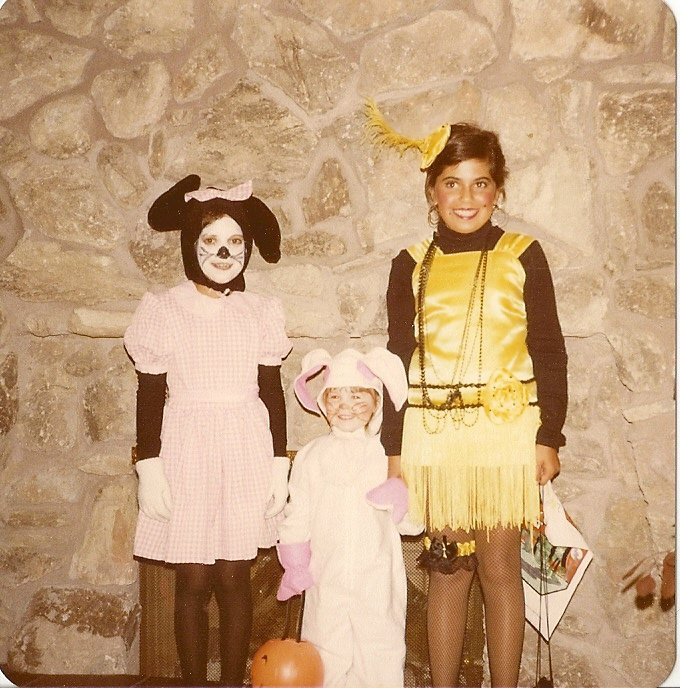 The family hand me down...this costume went through pretty much everyone in my family haha!  Yep that's me as the bunny rabbit.