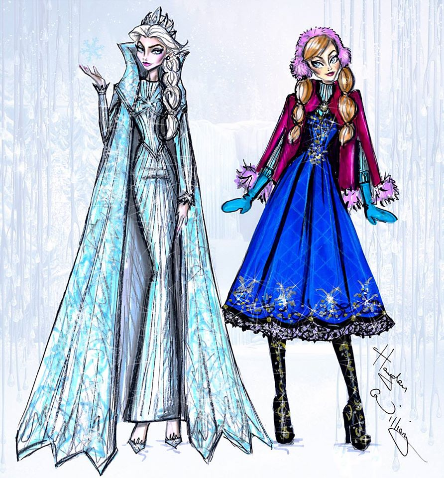 Anna and Elsa by Hayden Williams