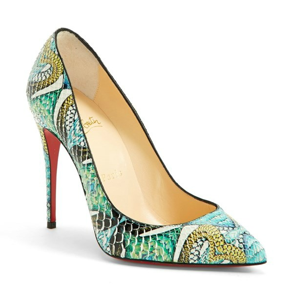 """Pigalle"" Hand Painted Genuine Python Pointy Toe Pump by Christian Louboutin"