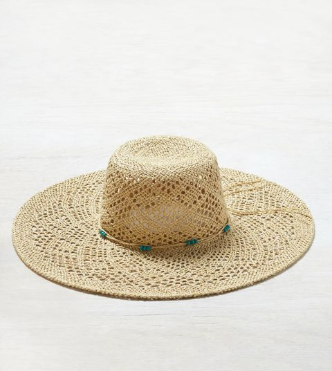 American Eagle Floppy Straw Hat, $25; ae.com