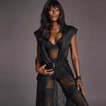 Naomi Campbell for La Perla.  Photo by Mert Alas and Marcus Piggott.