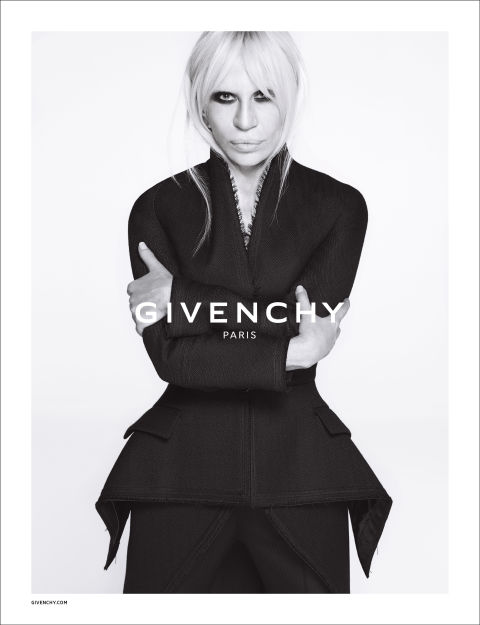 Donatella Versace for Givenchy.  Photo by Givenchy.