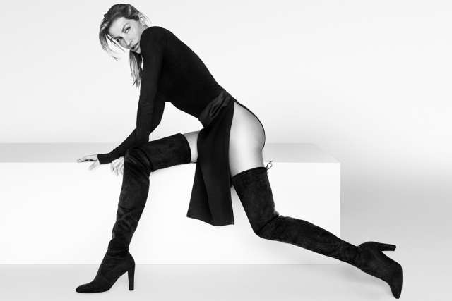 Gisele Bundchen for Stuart Weitzman.  Photo by Mario Testino.