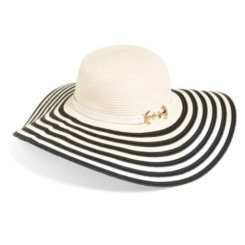 Eugenia Kim Cecily Striped Straw Hat, $75; lordandtaylor.com