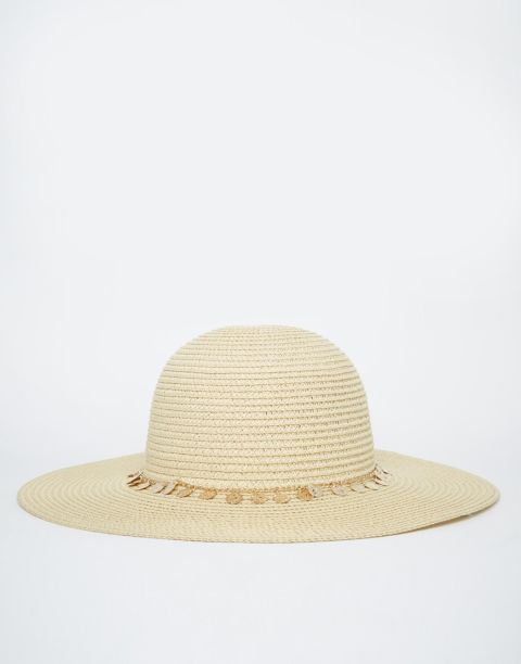 ASOS Floppy Hat With Coin Trim, $33; asos.com