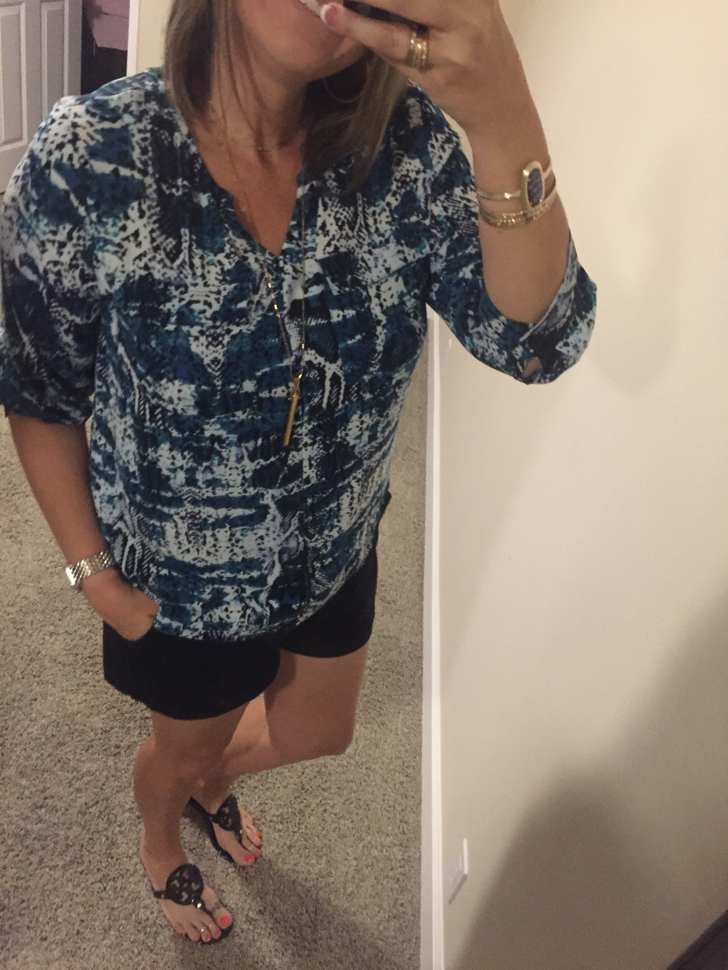 What I'm Wearing–Snakeskin and Shorts