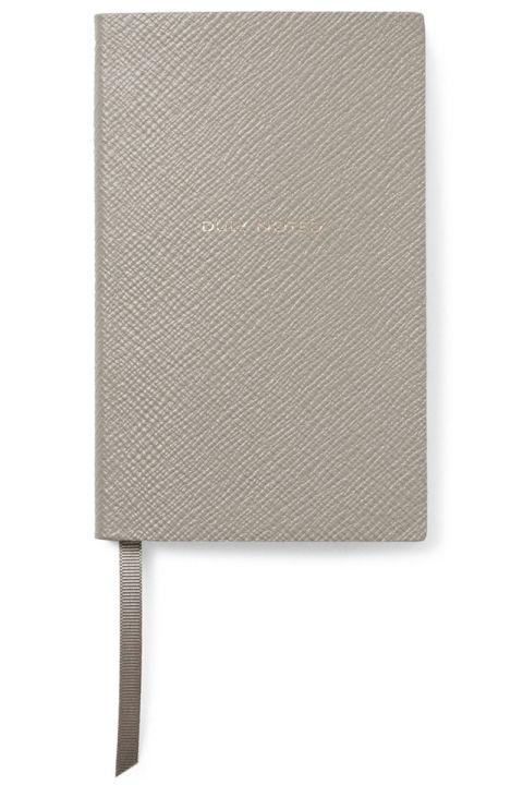 Smythson Duly Noted Cross-Grain Leather Panama Notebook, $75; mrporter.com