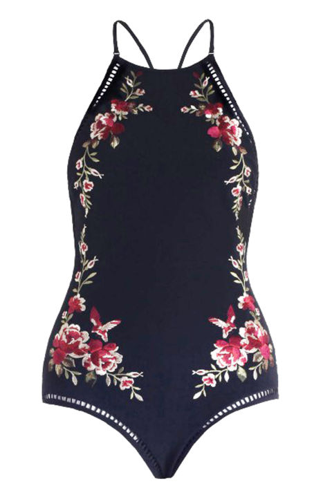 Zimmermann Sakura Embroidered One Piece, $580; zimmermannwear.com