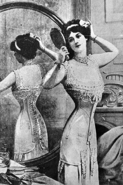 1900's -- Corsets. Internal organ damage, broken ribs, hours to get dressed—there is such thing as doing too much for fashun and corsets are it.