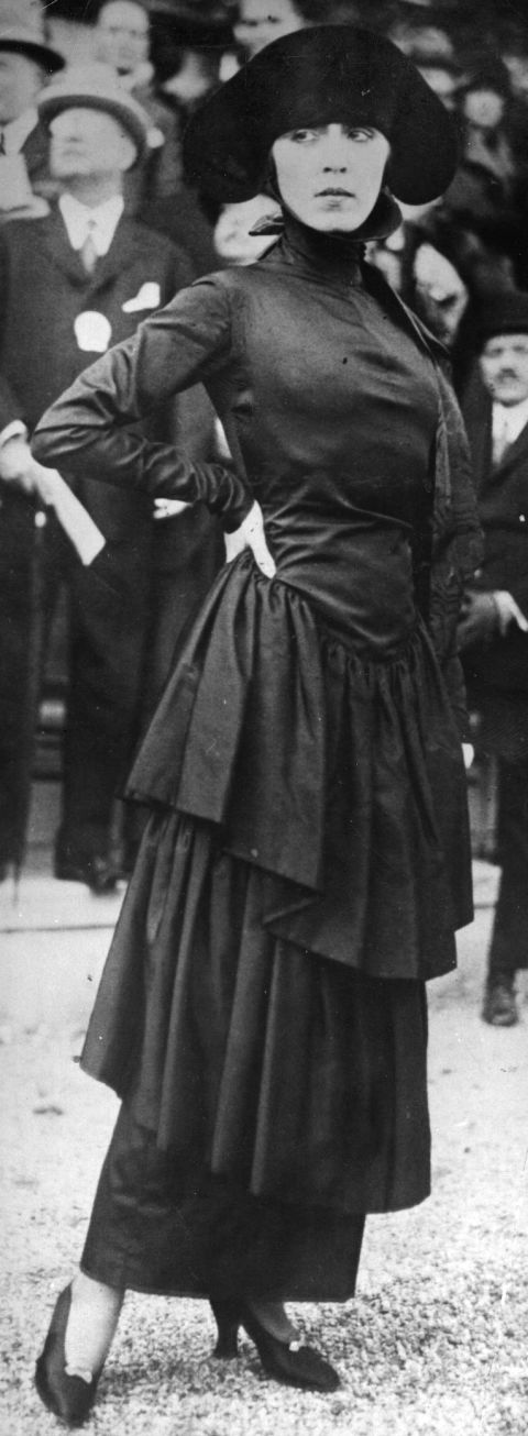 1910's -- The Hobble Skirt. Sure they look chic, but walking in these heavy and constricting floor-length hemlines is no easy task. Imagine wearing a tight, ankle-length pencil skirt and having no choice but to move at a glacial pace: no fun.