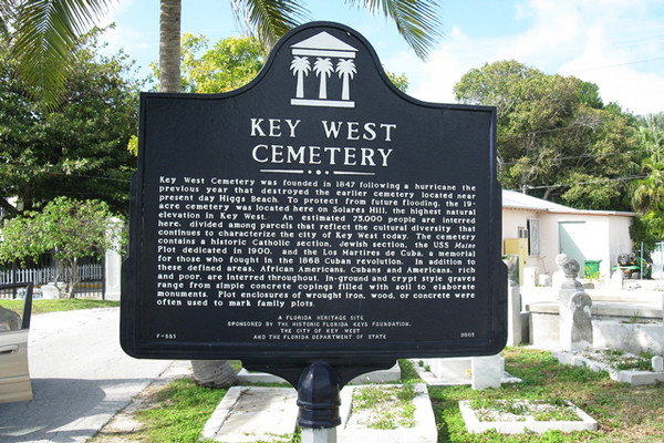 "Key West, Florida If you're making an excursion to the Florida Keys, be sure to make a visit to the Key West Cemetery. Not only does it have some hilarious gravestones (""I told you I was sick"" and ""Devoted Fan of Julio Iglesias"" are a few standouts), but it is also haunted by the spirit of a Bahamian woman who protects the site. Also check out the St. Paul's Episcopal Church Graveyard for a real fright. Many people have reported getting spooked by voices and apparitions of children gathered around an angel statue."