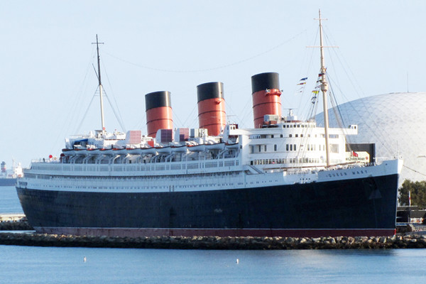 The Queen Mary The haunted ocean liner docked in Long Beach, California is known as one of the most haunted locations in the world. With over 150 spirits roaming the art deco-filled ship, you're sure to get a good scare.