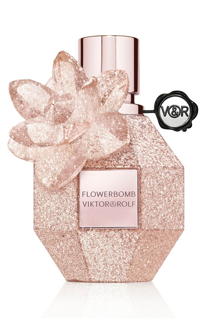 """Viktor & Rolf """"Flowerbomb Holiday"""" Limited Edition Perfume. $120. How gorgeous is this bottle?"""