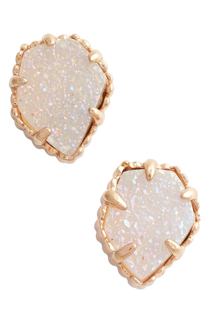 "Kendra Scott ""Tessa"" Stone stud earrings (come in 4 colors). $55."