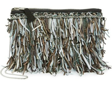 G-lish Bead & Leather Fringe Crossbody Bag $88