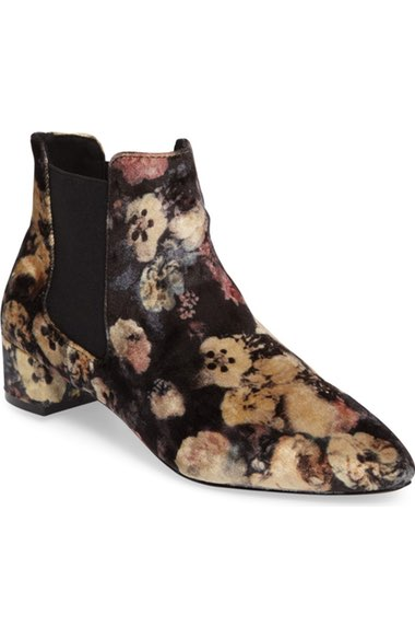 Topshop Krazy Chelsea Bootie in floral print $60