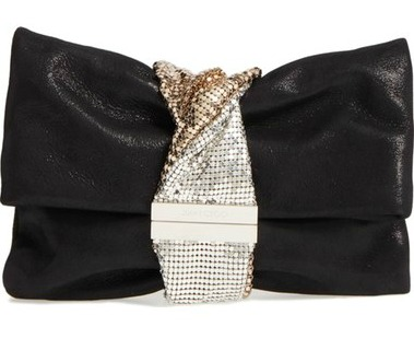 Jimmy Choo Chandra Shimmer Suede Clutch $1,295