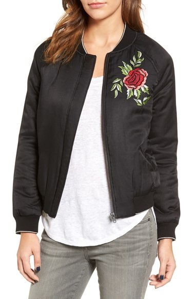 Velvet by Graham & Spencer Embroidered Bomber Jacket $249