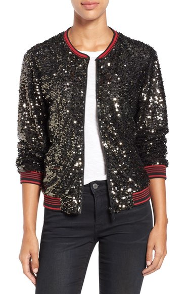 Sanctuary Sequin Bomber $189